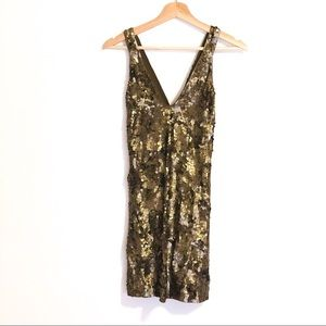 Gold sequin French Connection dress (size 4)